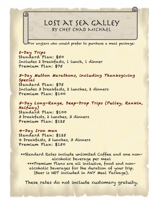 Galley Menu 2018 4